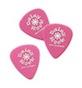 Daisy Rock Girl Guitars: Guitar Picks (Pink w/White Daisy Rock Logo) Delrin 500, bag of 12 (.71 Medium)