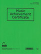 Music Achievement Certificate (Pack of 12)